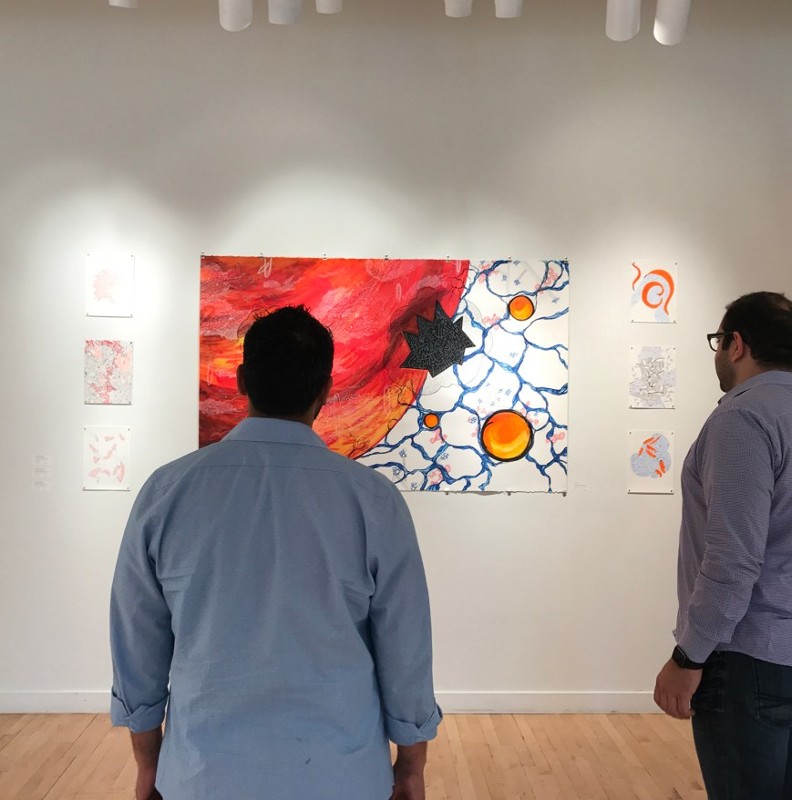 Visitors at the Opening reception of the Shared Energies project, Princeton 2017