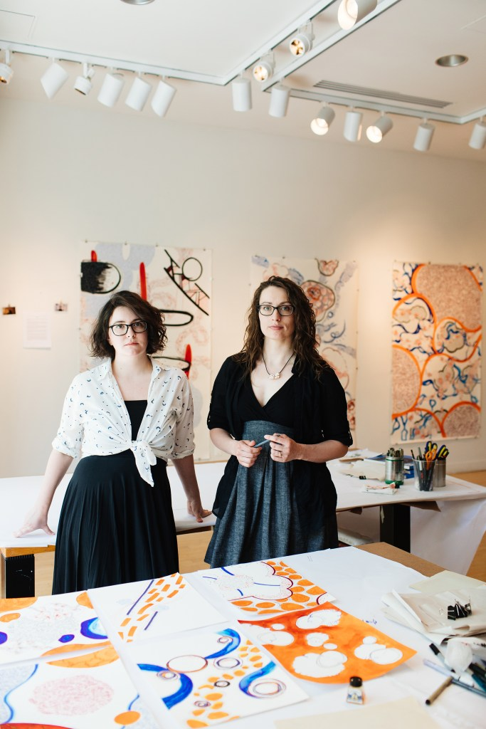 Fiona and Maria at the Taplin Gallery, Princeton 2017