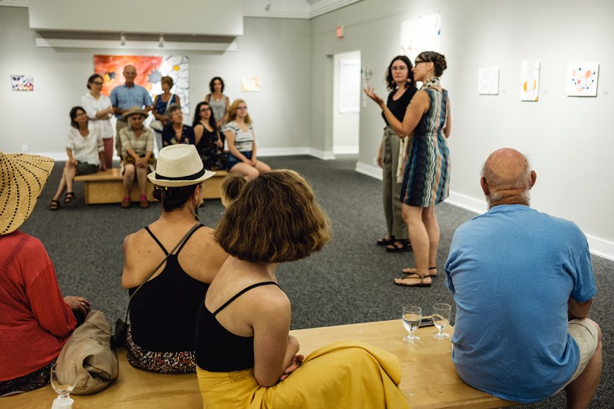 Artist talk at the opening reception