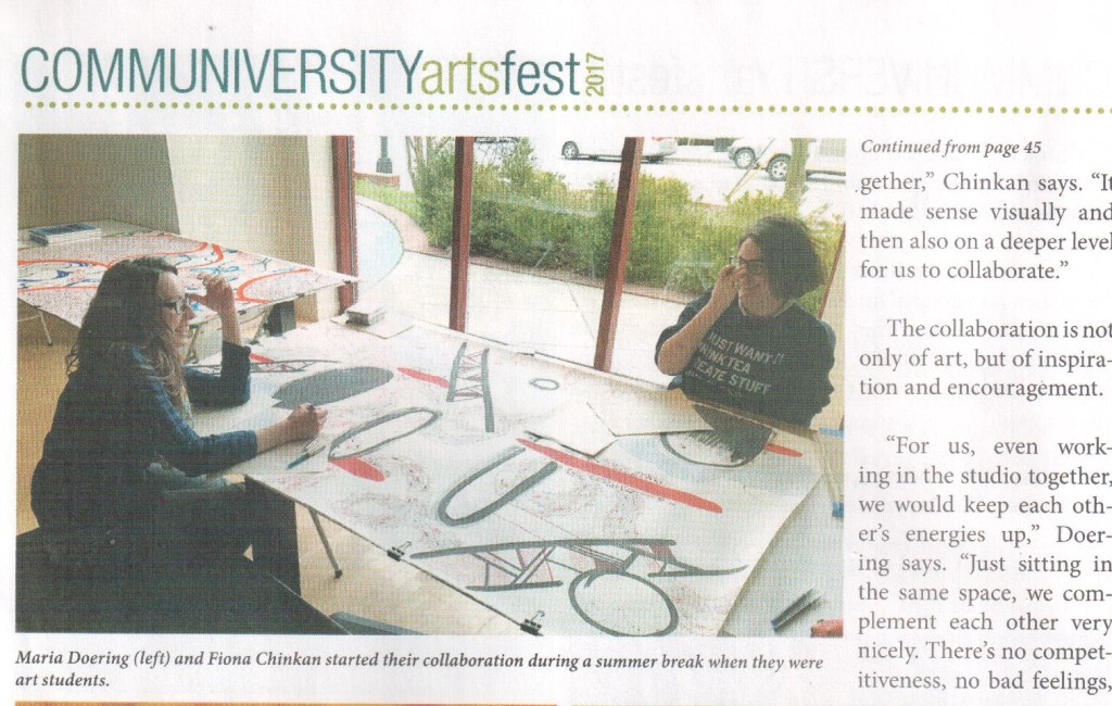 Feature in Communiversity ArtsFest Newspaper