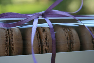 Birthday Chocolate Caramel Macarons