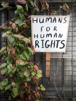 Humans for human rights. Integrated Education Alumni Association (IEAA) launch event, Belfast branch, Sunflower Bar, Belfast, Northern Ireland. @IntEdAlumni