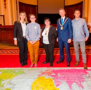Youth4Peace and International Peace Day event. Belfast City Hall, Belfast, Northern Ireland. (c) Beyond Skin @BeyondSkin #Youth4Peace #CRWeek16