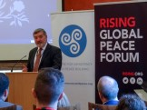 Lord John ALDERDICE. Rising Global Peace Forum and Centre for Democracy and Peace Building seminar, Parliament Buildings, Belfast, Northern Ireland. @RISINGforum @CDPB_NI