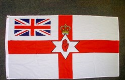 Historic flag of Northern Ireland (Ulster banner) with Union flag in canton. (c) Gordon GILLESPIE