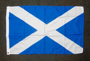 Saltire of Scotland (with more recent lighter blue than element of Union flag). (c) Gordon GILLESPIE