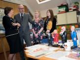 Gavin CARVILLE shows First Minister of Northern Ireland Arlene FOSTER MLA ephemera (c) Allan LEONARD @MrUlster