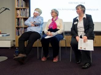Paddy SMYTH, Anne ODLING-SMEE, and Lorna McALPINE (c) Allan LEONARD @MrUlster
