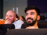 Discussion on film Akamas. Queen's Film Theatre, Belfast, Northern Ireland. (c) Allan LEONARD @MrUlster