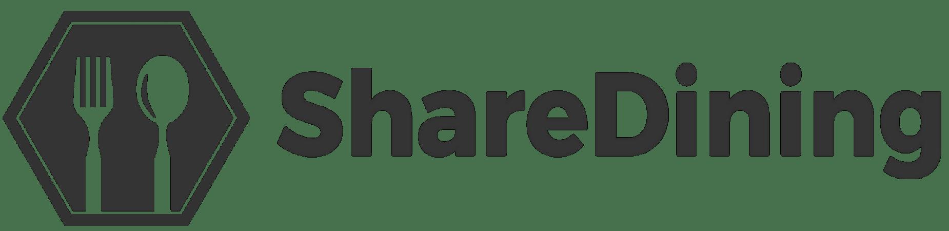ShareDining Horizontal Logo - Black
