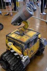 And of course, the robots! Wall-E stopped by to say hit