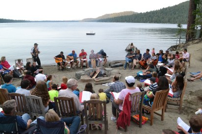 Camp's best tradition: Campfire!