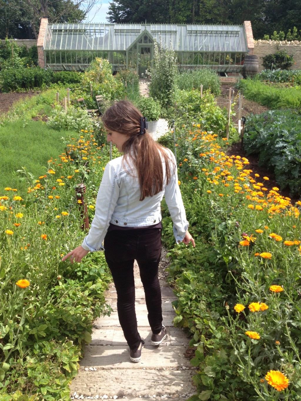 Ilaria in garden