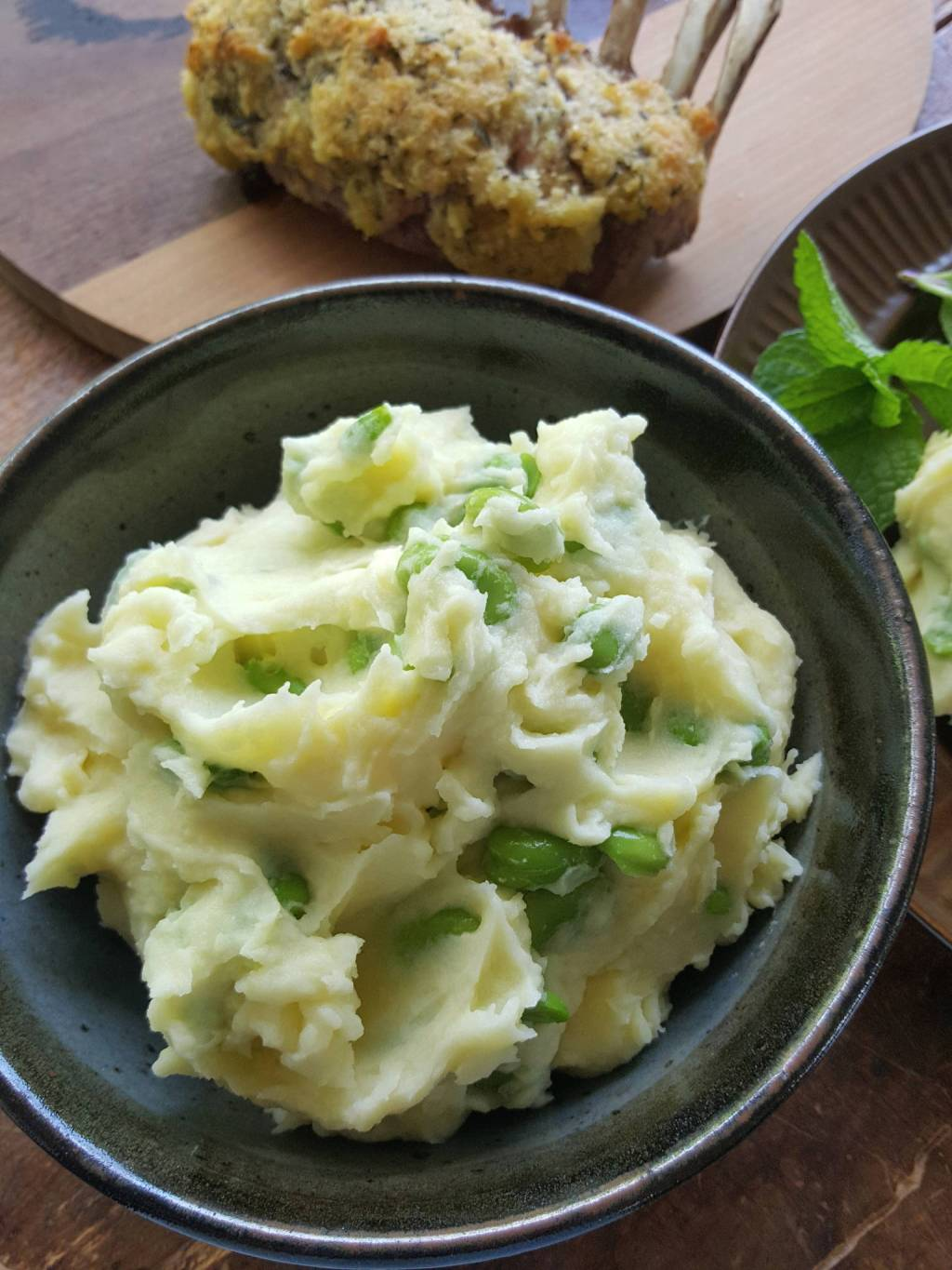 Broad bean & potato mash 5