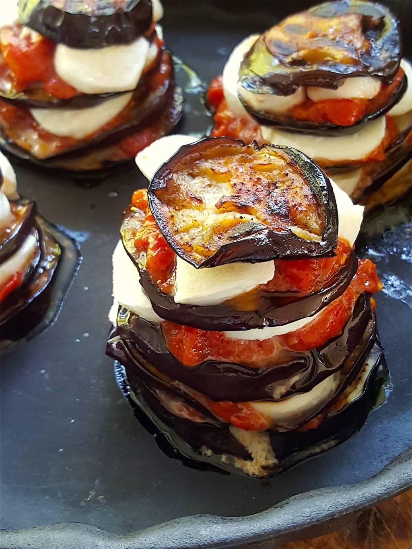 Eggplant & Mozzarella Stacks 2