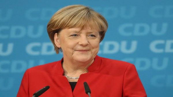 While campaigning, Merkel says Europeans can't 'completely'...