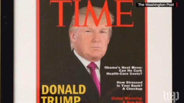 Trump golf clubs boast fake Time Magazine cover