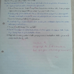 An image of a graded piece of creative writing - taking the form of a transcript between proponents of Shuttle and ferry-based transport - submitted by Chris Larham as part of the AS Level French course [34 out of 40, 2000/2001].