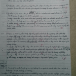 Image of the first marked page of Chris Larham's AS Level Business Studies practice exam [38 out of 63, 60%, 'C'-grade].