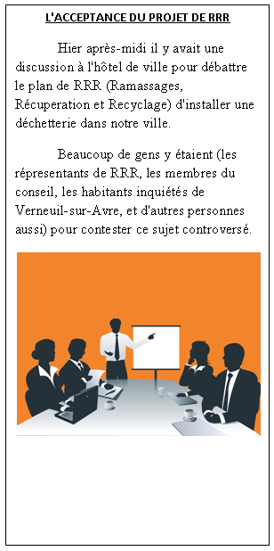 An image of a fictional newspaper's left-hand column [French].