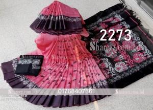 Half Silk Nokshi Saree 2273