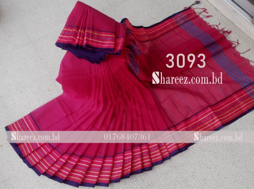 Cotton Saree nokshi work 3093
