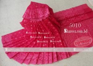Half Silk Jamdani Saree 5010