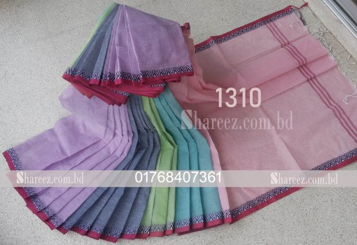 5 Color Cotton Saree 1310