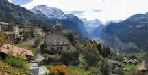Wengen, Suíça - caminhadas nas montanhas em um cenário perfeito