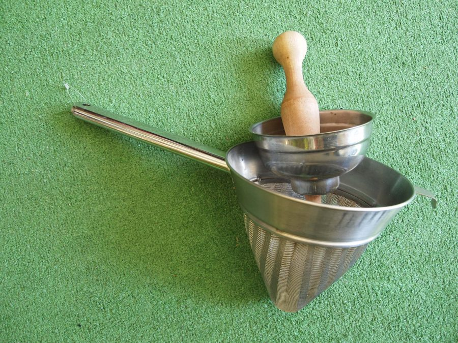 Metal Preserve Funnel With Sieve And Presser