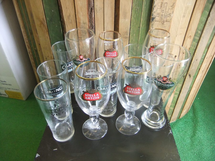 Set Of 12 Mixed Glasses