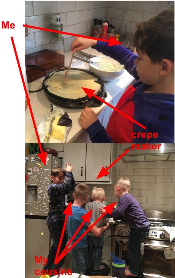 Luca's crepe crew!