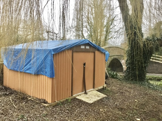 SHARE Oxford's extra storage shed