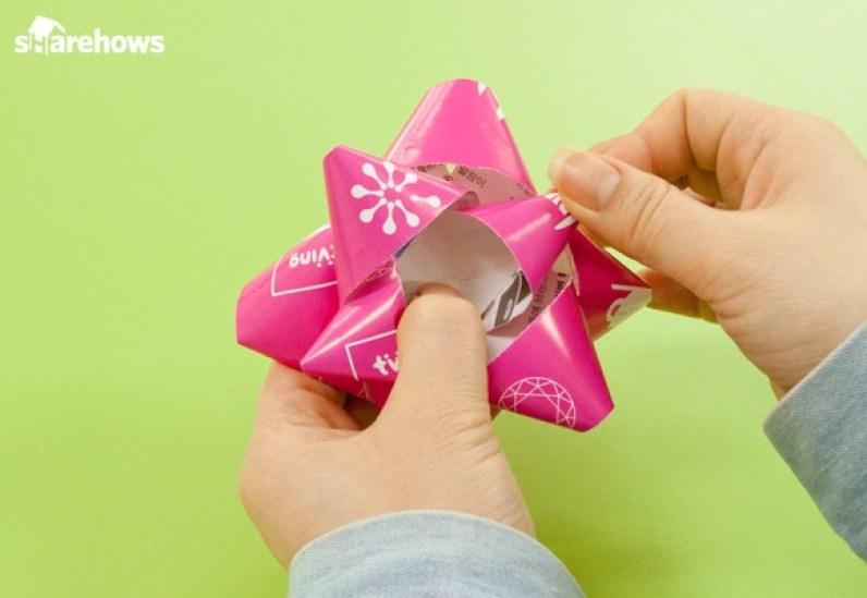잡지 한 장으로 포장 꽃 만들기