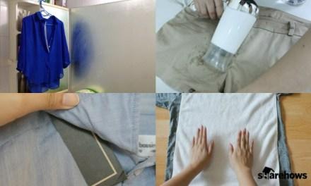구겨진 옷, 다리미 없이 펴는 방법