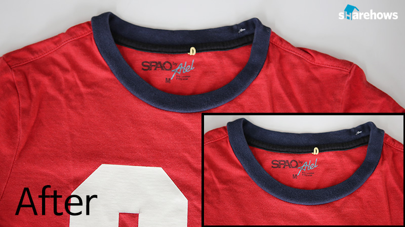 how to mend a t shirts neck line 05