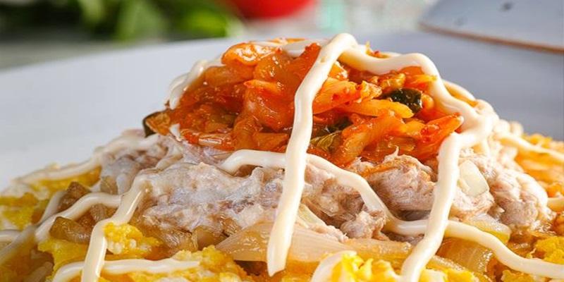 사 먹는 것보다 더 맛있는 김치참치마요 덮밥