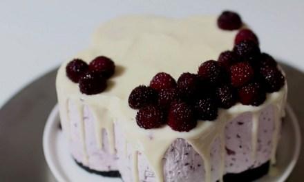 오븐 없이 산딸기 치즈케이크 만들기