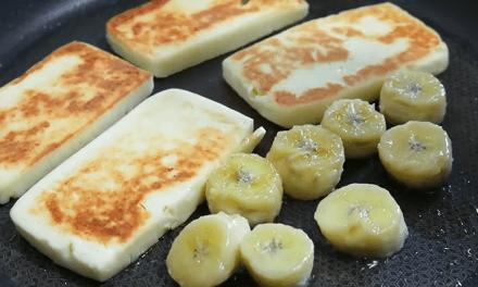 치즈 덕후라면 침샘폭발 할 구워 먹는 치즈 (feat.구운 바나나)