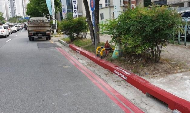 갑자기 나타난 도로 위의 빨간 선의 정체는?