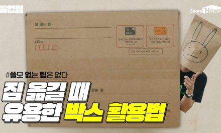 무거운 짐 옮길 때 유용한 박스 활용법 4