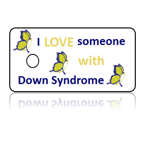 Down Syndrome Awareness Butterfly Key Tags