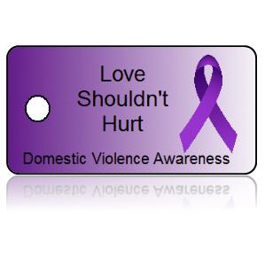 Domestic Violence Awareness Ribbon Key Tags