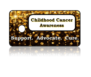 Childhood Cancer Awareness Key Tags