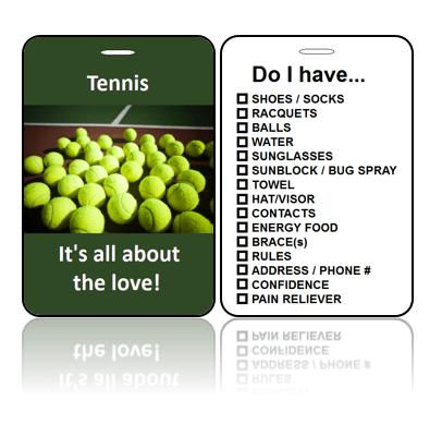 Sports Club Bag Tags Tennis Love