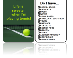 Sports Club Bag Tags Tennis Sweeter Life