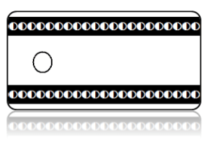 Create Design Key Tags Black White Circle Broadway Border