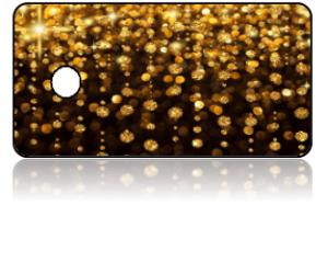 Create Design Key Tags Gold Sparkle Black Background