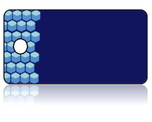 Create Design Key Tags Blue Modern Octagon Module Pattern