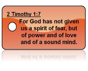 2 Timothy 1:7 Bible Scripture Orange Key Tags
